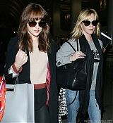 Dakota Johnson and Melanie Griffith Arrive at LAX Airport - October 19
