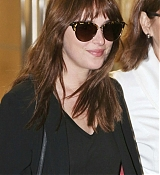 Dakota Johnson Arriving in Vancouver - October 12th