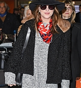 Dakota Johnson Arrives at Charles De Gaulle Airport - March 5