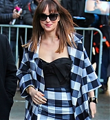 Dakota Johnson Arrives at David Letterman Show - February 17