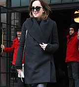 Dakota Johnson In New York City - February 9