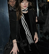 Dakota Johnson leaving Balmain Party - March 6