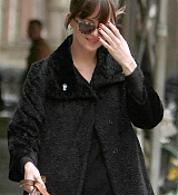 Dakota Johnson Out with Zeppelin in NYC - April 7