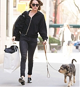 Dakota Johnson Walking Zeppelin in NYC - April 19