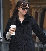 Dakota Johnson Walking Zeppelin in NYC - April 8