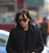 Dakota Johnson Walking Zeppelin in NYC - March 31
