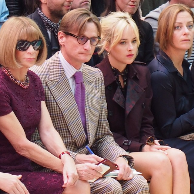 Dakota Johnson at Burberry London Fashion Week - September 15