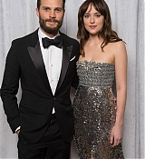 Dakota Johnson and Jamie Dornan for 2015 Golden Globe Awards Portraits