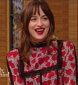 Dakota Johnson on Live with Michael & Kelly Show Screen Captures